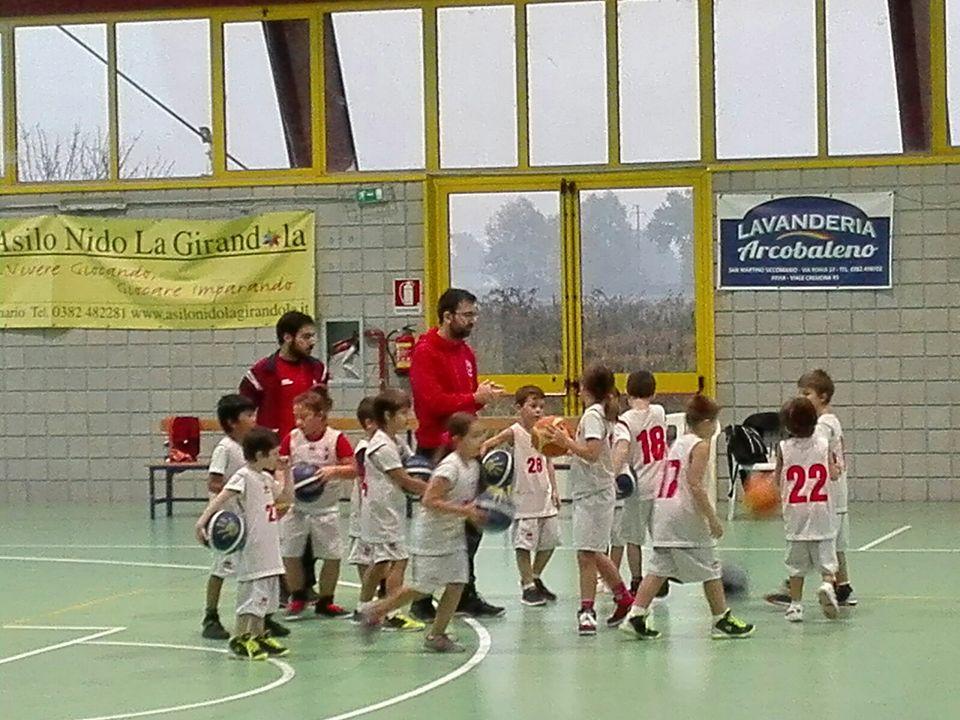 gs San Martino Siccomario Basket pallacanestro bimbi
